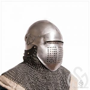 Bascinet 1350-1440 years with Single Ocular visor