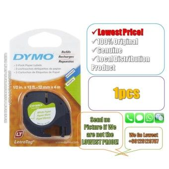 Price Dymo Letratag Label Maker Tape/Refill Paper White 12mm