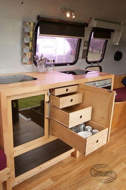 31 Best Hidden Camper Storage Ideas To Copy Now Homeridian Com Airstream Interior Camper Storage Airstream