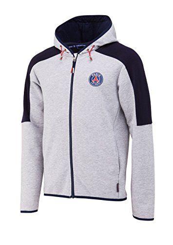 PARIS SAINT-GERMAIN Veste Sweat zipp/é/é /à Capuche PSG Collection Officielle Taille Homme