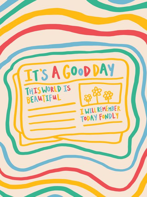 it's a good day newspaper illustration by glowingly on redbubble