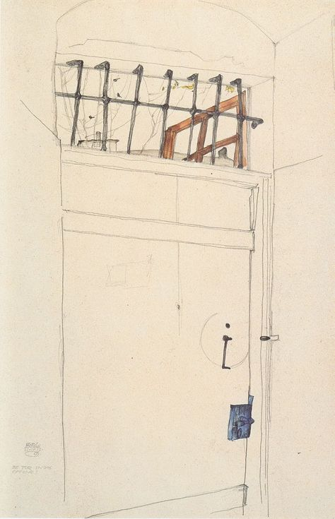 Tür in das Offene (Door to Freedom): Egon Schiele, 21 April 1912 (Albertina. Vienna)