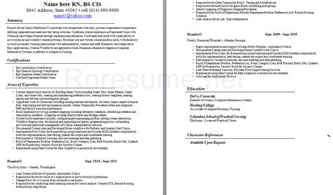 12 best rn resume images on pinterest rn resume cover letters and menu - New Grad Rn Resume Template