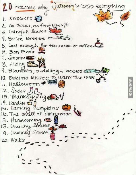 20 Reasons Why Autumn Is The Best Season Automne Couleur Automne Activite Automne