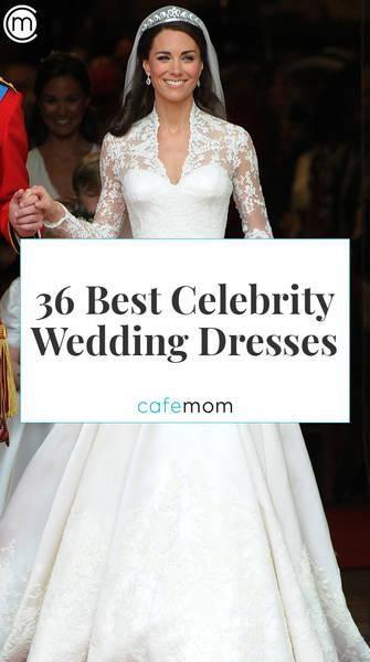 36 Best Celebrity Wedding Dresses Celebrity Wedding Dresses Modest Wedding Dresses Wedding Dresses Cinderella