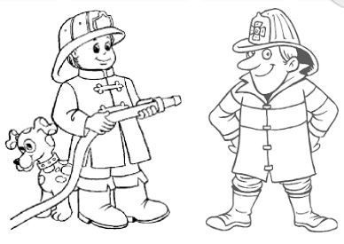 Firefighter Coloring Page Coloring Pages Printable Coloring Book Drawings