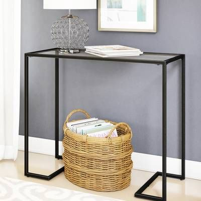 Royalston 38 Glass Top Console Table Console Table Furniture Table Top Design