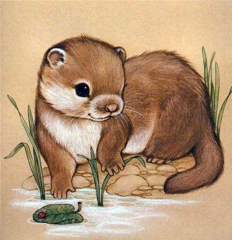 Otter Gezeichnet Susse Tiere Zeichnen Tiere Zeichnen Niedliche Tierzeichnungen