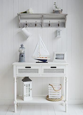 White Living Room Furniture Furniture Nautical Interior Home