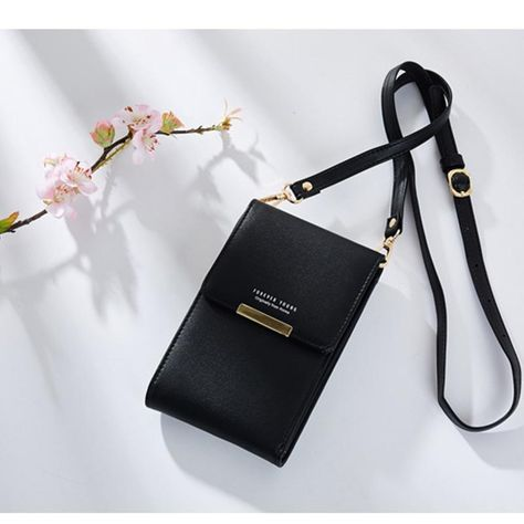Wallet Zipper PU Leather Clutch Bag Mobile Phone Bag Leather Coin Purse S3