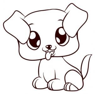 How To Draw A Puppy Step 6 Drawing Easy Animal Drawings Easy