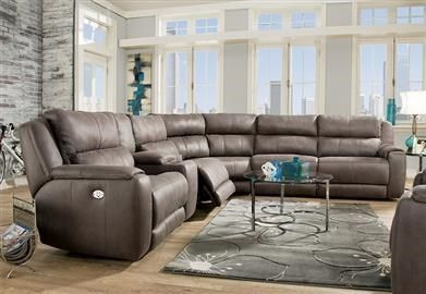 Radiance Power Headrest Reclining Sectional By Southern Motion At