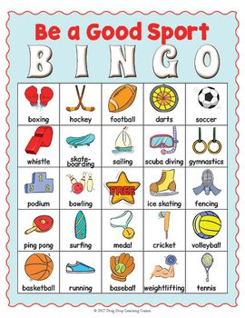 Sports Bingo Sports Day Printable Sports Activities For Kids Bingo For Kids Sports Day Activities