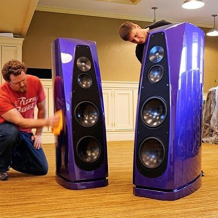 That Color Would Perfectly Suit The Prince Did Someone Say Rockport Technologies Cygnus Speakers In Plum Crazy Purple Finish Quit Stereo Audio Music Audiophile