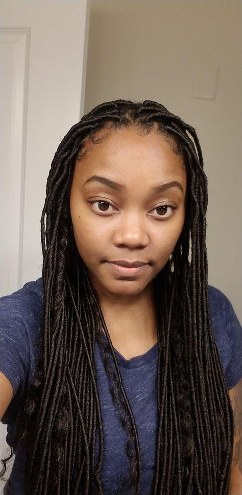 Small Thin Faux Locs Braids For Thin Hair Black Girl Braids