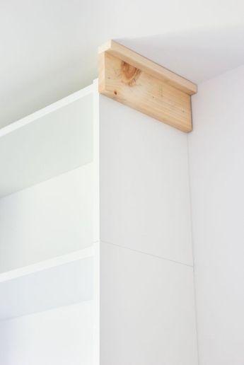 Epingle Par Nancy Mailloux Sur Idee Meuble Construire Un Placard Stockage Ikea Bibliotheque Billy
