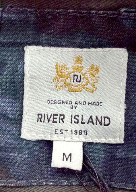 River Island woven label