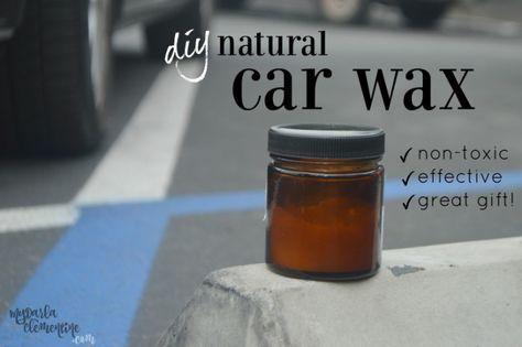 Diy Natural Car Wax How To Make Diy Wax Eco Friendly Cleaning