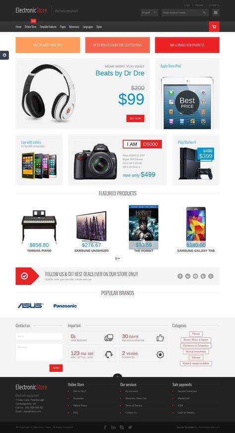JM Computers and Electronics Joomla Virtuemart Store Template