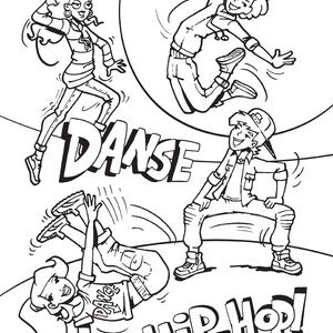 Coloriage Anti Stress Danse.Coloriage Danse Hip Hop Auchanetmoi Coloriage Et Hip Hop