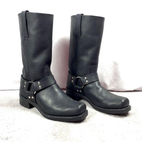 Mens Harness 12R Wide Width Black