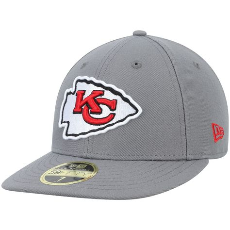 Men's New Era Graphite Kansas City Chiefs Storm Low Profile 59FIFTY Fitted Hat, Size: 7 7/8, Dark Grey