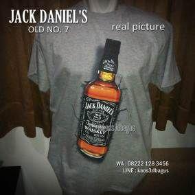 Kaos Jack Daniels Kaos Minuman Jack D Kaos Botol Whisky Jack Daniels Whisky Jack Daniels Whiskey Bottle
