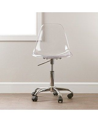 Clear Acrylic Office Chair Swivel Chair South Shore Modern Office