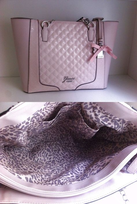 16c7cc2023c Guess rose powder frosty pink tote shopper handbag purse New! $110.0