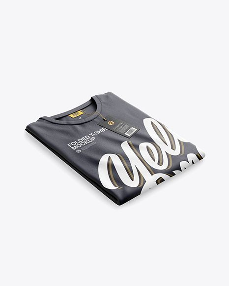Download Folded T Shirt Mockup Half Side View In Apparel Mockups On Yellow Images Object Mockups Tshirt Mockup Mockup Free Psd Mockup