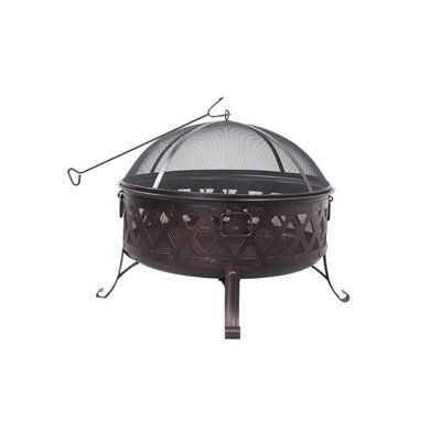 Hampton Bay   34 Inch Round Fire Pit Including Cooking Grill   FTB 51150B    Home Depot Canada | Décor Extérieur | Pinterest | Round Fire Pit And Patios.