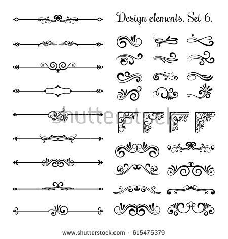 Ornamental Borders And Flourish Corners Royal Ornament Swirls And Vector Vintage Page Dividers Classical Page Dividers Vector Art Design Free Vector Graphics