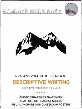 Descriptive Creative Writing Mini-Lesson | Scaffolding
