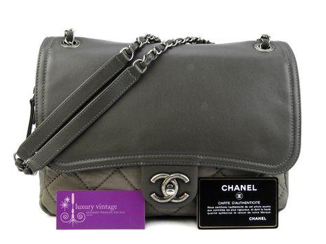 Chanel Grey Color Soft Leather Flap Bag Rm12900 Bangsar Showroom 6 010 220 3384 6 03 2095 6266 Bangsar Vil Chanel Collection Luxury Vintage Chanel Brand