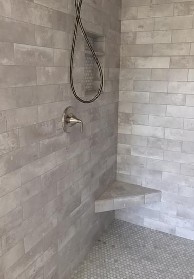 Jeffrey Court Stone Creek Gray 4 In X 12 In Matte Porcelain Floor And Wall Tile 0 302 Sq Ft 98427 The Home Depot Stone Creek Jeffrey Court Wall Tiles