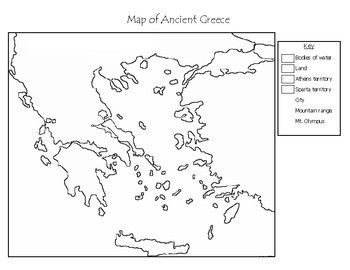 Ancient Greece Blank Maps Ancient Greece Activities Ancient