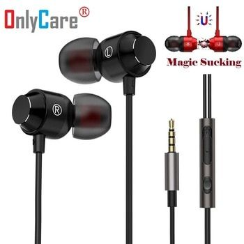 Magnetic Metal Heavy Bass Music Earphone For Dell Inspiron 14 Core2 Duo P7550 Laptops Notebooks Earbuds Mic Fone De Ouvido