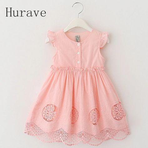 8e2bcb42b7d Интернет-магазин Hurave Одежда для детей бренда Vestido Infantil Мода 2017  г. кружевное платье принцессы для девочек летние платья для девочек детское  ...