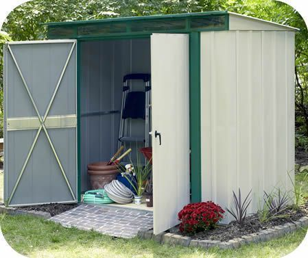 Arrow Eurolite 10x4 Steel Lean To Shed Kit W Skylights Lean To Shed Kits Shed Shed Kits