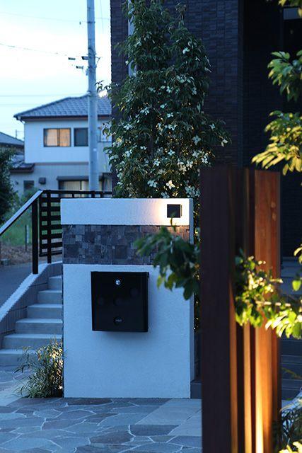 スポットのあたる外壁 Ledius Lightingmeister Takasho Light