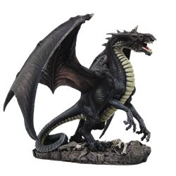 Fierce Saurian Dragon Hanging Sculpture Gothic Fantasy Home Decor fnt SALE