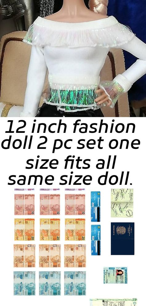 12 inch fashion doll 2 pc set one size fits all same size doll.