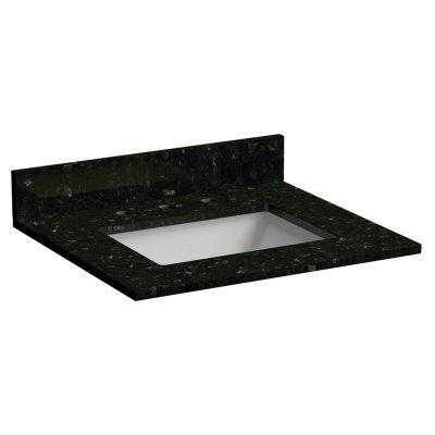 Foremost 25 In Granite Vanity Top With Sink Emerald Pearl