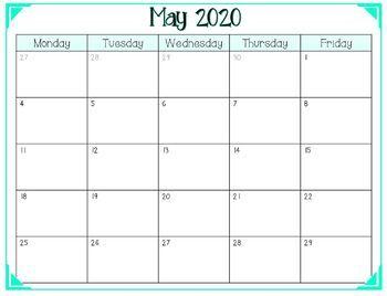 2019 2020 Free School Year Calendar Weekdays Only School Calendar