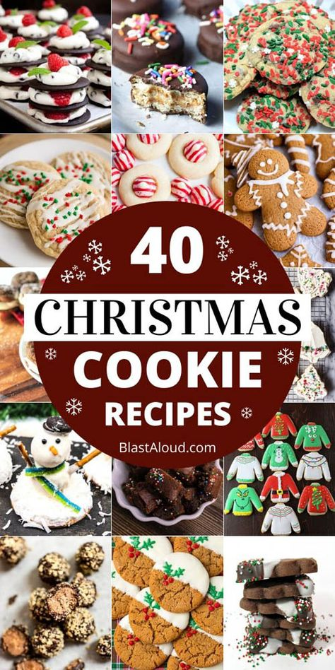 Make your house smell divine with these festive and tasty Christmas cookies recipes. Enjoy them yourself or use them for a cute Christmas edible gift. Christmas Donuts, Christmas Desserts Easy, Best Christmas Cookies, Holiday Cookies, Holiday Treats, Christmas Treats, Holiday Recipes, Simple Christmas, Christmas Recipes