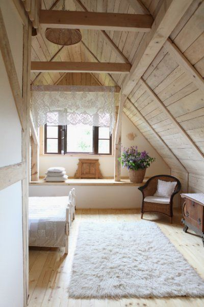 37 Interior Design Decorating Ideas For Incredible Attics In 2020 Wooden Cottage Cottage Bedroom A Frame House