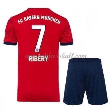 Bayern Munchen Fussballtrikots Kinder 2018 19 Franck Ribery 7 Heim Trikotsatz Kurzarm Fussball Trikot Kinder Fussballtrikots Bayern Munchen Trikot