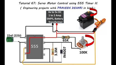 servo motor control using 555 timer ic tutorial:67 - youtube regarding 555  tutorial - 6579