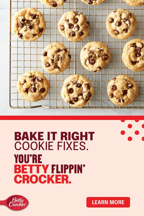 Got cookie problems? We'll admit, we didn't perfect our chocolate chip cookies without making a few rookie cookie mistakes. Now that we've perfected the art of cooking making, we'll give you the best ways to identify the probable mistake and more importantly, how to fix it and avoid it in the future.