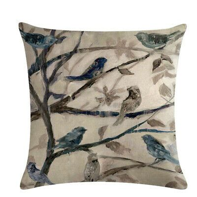 Wholesale Classical Pillow Cover Linen Household Pillow Case Colorful Leaf Bird Fashion Home Garden Homedc In 2020 Sofa Pillow Covers Pillow Covers Cushion Pattern